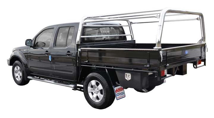 Constructed of 76mm front u0026 rear sports bars with join bars between this canopy gives an added style to your vehicle still retaining access to both sides ...  sc 1 st  Duratray & Steel Frame Canopy Ute Tray Aluminium Tube And Vinyl Canopy Ute ...