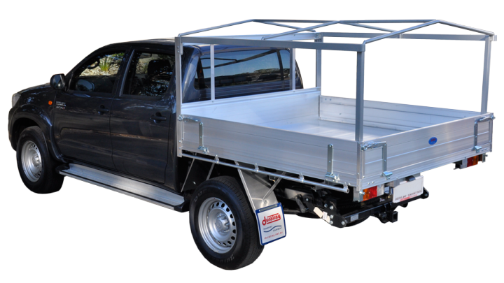 Consisting of a removable steel or alloy frame on your aluminium tray a PVC or canvas canopy is then fitted over the top.  sc 1 st  Duratray & Steel Frame Canopy Ute Tray Aluminium Tube And Vinyl Canopy Ute ...